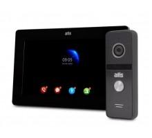 "Комплект Wi-Fi видеодомофона 7"" ATIS AD-770FHD/T-Black с поддержкой Tuya Smart + AT-400FHD (Black,Silver)"