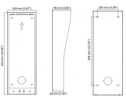 Накладная панель для монтажа Hikvision DS-KAB11-D