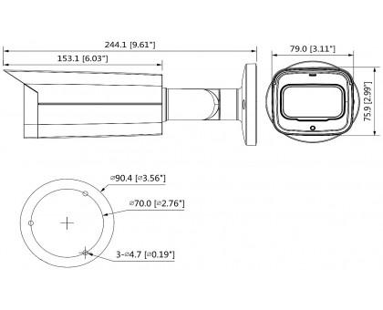 2Мп Starlight HDCVI видеокамера Dahua DH-HAC-HFW2241TP-Z-A