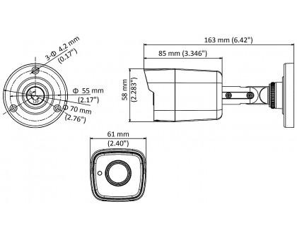 2.0 Мп Turbo HD видеокамера Hikvision DS-2CE16D8T-ITE  (2.8 мм)