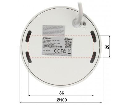 5Мп купольная IP видеокамера с искусственным интеллектом Dahua DH-IPC-HDBW3541FP-AS-M (2.8ММ)
