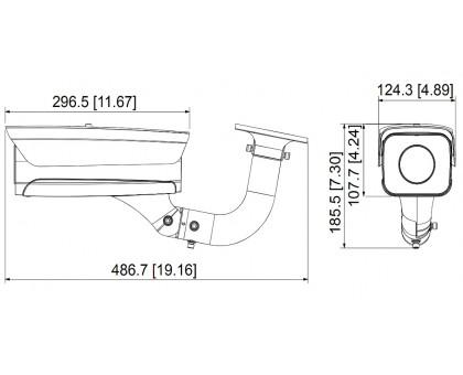 2Мп LPR IP видеокамера Dahua ITC215-PW4I-IRLZF27135