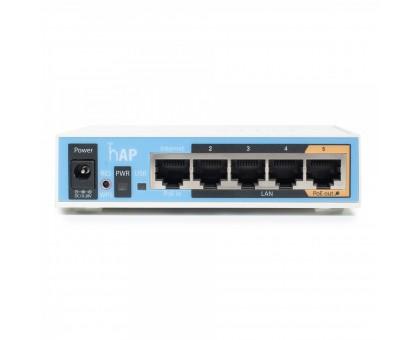 2.4GHz Wi-Fi точка доступа с 5-портами Ethernet для домашнего использования MikroTik hAP (RB951Ui-2nD)