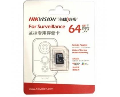 Карта памяти micro SD Hikvision HS-TF-L2I/64G