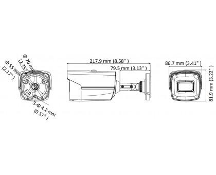 5 Мп Turbo HD видеокамера Hikvision DS-2CE16H8T-IT5F (3,6 мм)