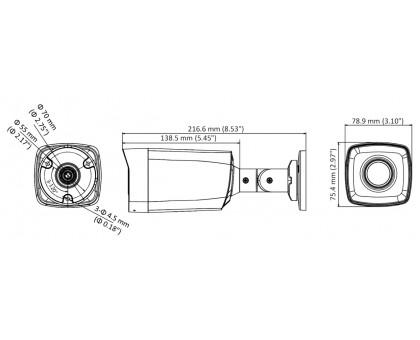 5 Мп Turbo HD видеокамера Hikvision DS-2CE17H0T-IT3FS (3.6 ММ)
