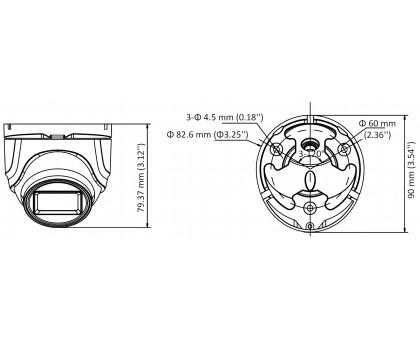 5 Мп Turbo HD видеокамера Hikvision DS-2CE76H8T-ITMF (2,8 мм)