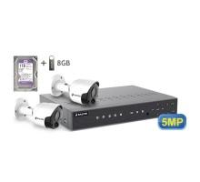5MP АHD комплект для видеонаблюдения BALTER KIT 5MP 2Bullet
