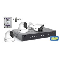 5MP АHD комплект для видеонаблюдения BALTER KIT 5MP 2Dome 1Bullet