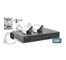 5MP АHD комплект для видеонаблюдения BALTER KIT 5MP 1Dome 2Bullet