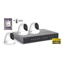 2MP АHD комплект для видеонаблюдения BALTER KIT 2MP 3Dome