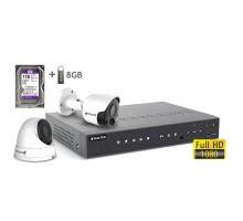 2MP АHD комплект для видеонаблюдения BALTER KIT 2MP 1Dome 1Bullet