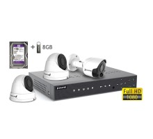 2MP АHD комплект для видеонаблюдения BALTER KIT 2MP 2Dome 1Bullet
