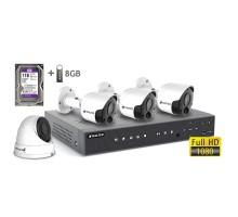 2MP АHD комплект для видеонаблюдения BALTER KIT 2MP 1Dome 3Bullet