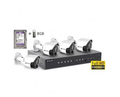 2MP АHD комплект для видеонаблюдения BALTER KIT 2MP 4Bullet