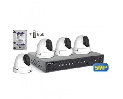 5MP АHD комплект для видеонаблюдения BALTER KIT 5MP 4Dome