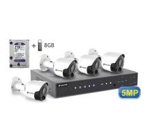 5MP АHD комплект для видеонаблюдения BALTER KIT 5MP 4Bullet
