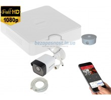 2MP IP комплект для видеонаблюдения Hikvision Kit 2MP 1 Bullet Out lite