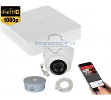 2MP IP комплект для видеонаблюдения Hikvision Kit 2MP 1 Dome Out lite
