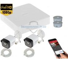 2MP IP комплект для видеонаблюдения Hikvision Kit 2MP 2 Bullet Out lite
