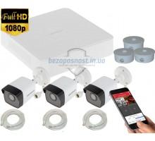 2MP IP комплект для видеонаблюдения Hikvision Kit 2MP 3 Bullet Out lite