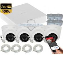 2MP IP комплект для видеонаблюдения Hikvision Kit 2MP 4 Dome Out lite