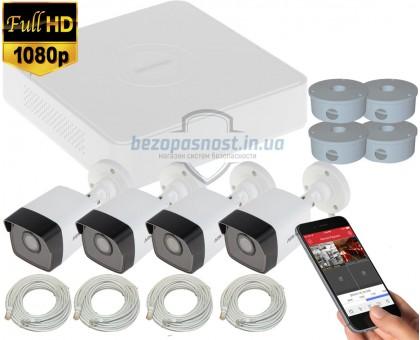 2MP IP комплект для видеонаблюдения Hikvision Kit 2MP 4 Bullet Out lite