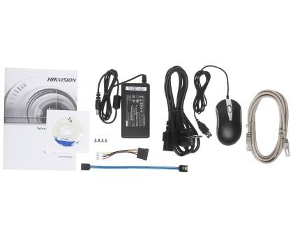 4-х канальный сетевой видеорегистратор c PoE Hikvision DS-7604NI-K1/4P(B)