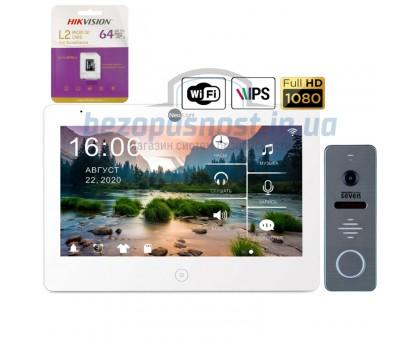 Комплект Full HD видеодомофона NeoLight Mezzo HD WF (grey,silver,black)