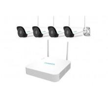 Комплект WI-FI видеонаблюдения UniArch KIT/104LS-W/4*B112-F40W