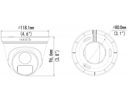 2Мп IP видеокамера Uniarch IPC-T112-PF28 (2.8 мм)