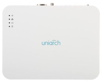 8-канальный IP видеорегистратор c PoE Uniarch NVR-108LS-P8