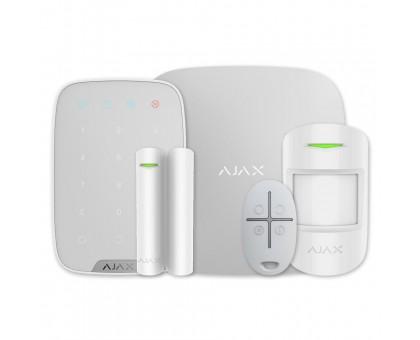 Комплект сигнализации Ajax StarterKit белый + клавиатура KeyPad белая