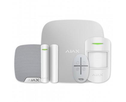 Комплект сигнализации Ajax StarterKit белый + комнатная сирена HomeSiren белая